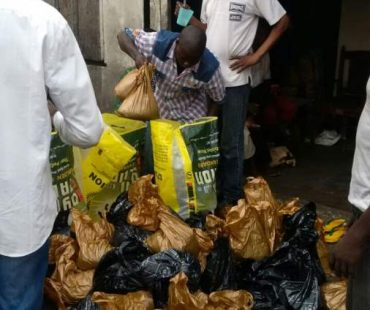 soup kitchen at the lepers colony Ebute metta Lagos - 19th Jan, 2017